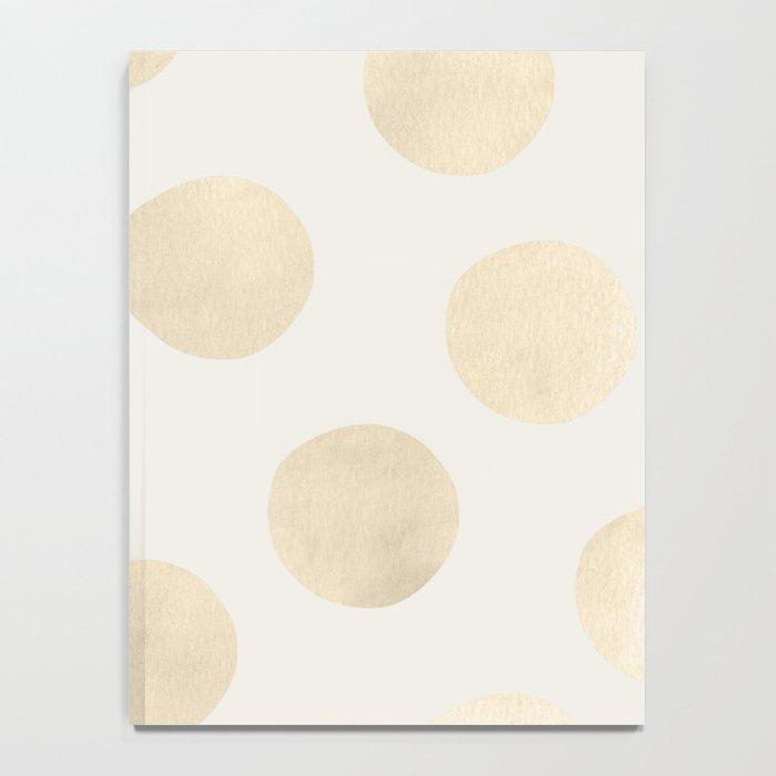 Gold Polka Dots Notebook