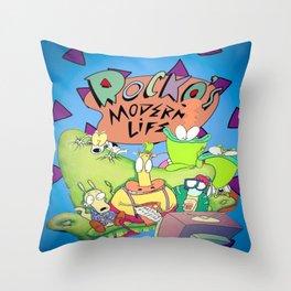 Rocko's Family  Throw Pillow