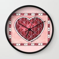confetti Wall Clocks featuring Confetti by Shelley Ylst Art