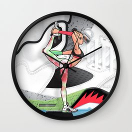 Yoga girl Cool Noodle and Pro Star Wall Clock