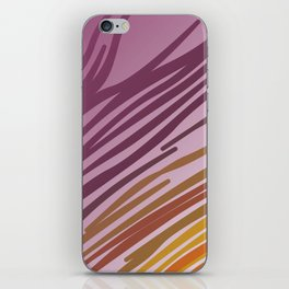 Wild tiger EXOTIC LINES pink iPhone Skin