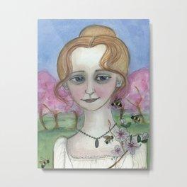 Blossoms Awake Spring,  Four Seasons Portrait Metal Print