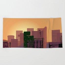 Sunset over San Francisco Beach Towel