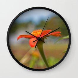 September Flowers Wall Clock