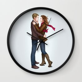 Fitzsimmons - Winter Fluff Wall Clock