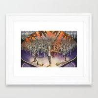 coldplay Framed Art Prints featuring Coldplay by Carmine Bellucci