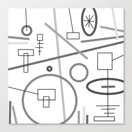 shapes on white Canvas Print