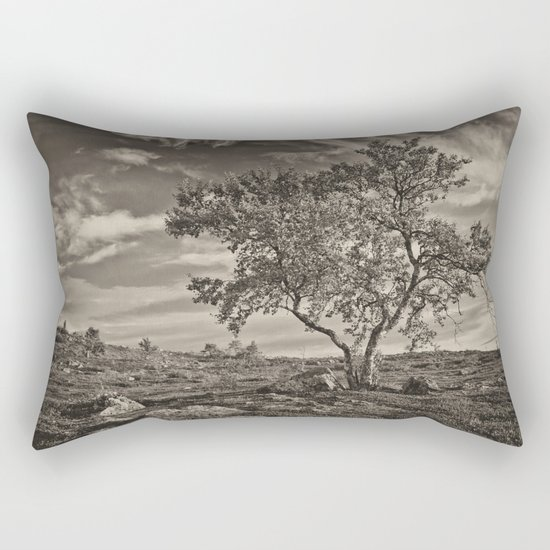 A tree in the mountains Rectangular Pillow