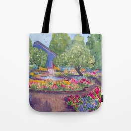 Prescott Park Portsmouth NH Watercolor Tote Bag