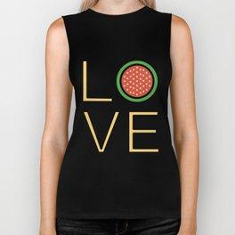Love Watermelon Super Cute And Very Fun Love Gift Idea Design Biker Tank