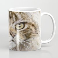maine Mugs featuring Maine Coon  by S-Schukina