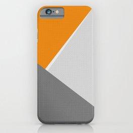 Orange And Gray iPhone Case