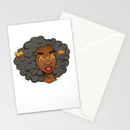 Stormy Grey Edda • Melaninated Girl Power • Black Girl Magic Stationery Cards