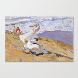 Joaquin Sorolla y Bastida - Capturing the moment, 1906 Canvas Print