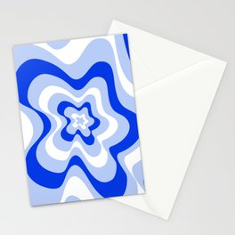 Abstract pattern - blue and white. Stationery Cards
