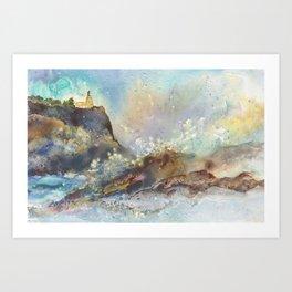 The Splash at Split Rock Art Print