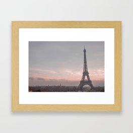 Pink Sunrise Paris Framed Art Print