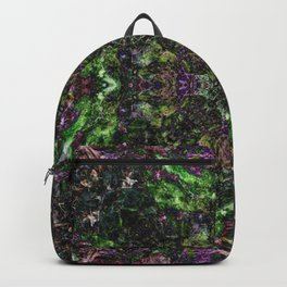 """Purple Dreams"" Reflection moss covered stump Backpack"