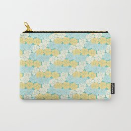 Hana Poppies - Yellow and Teal Carry-All Pouch
