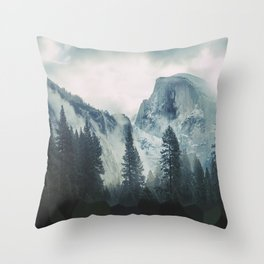 Cross Mountains Throw Pillow