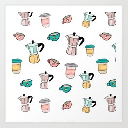 Moka espresso coffee pot Art Print