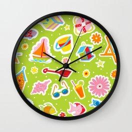 Summer Fun Green Wall Clock