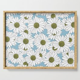 Daisy Blue Serving Tray