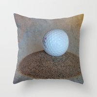 golf Throw Pillows featuring Golf by LoRo  Art & Pictures
