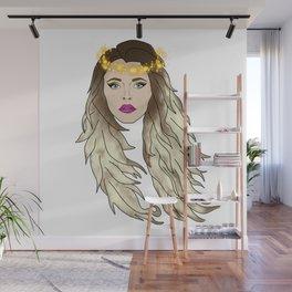 Digital Girl Wall Mural