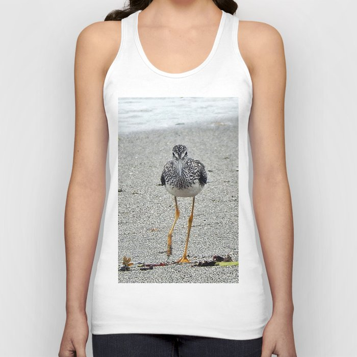 Greater Yellowlegs (Sandpiper) Looking at Camera  Unisex Tank Top