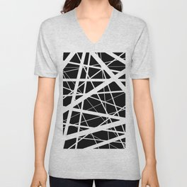 Entrapment - Black and white Abstract Unisex V-Neck