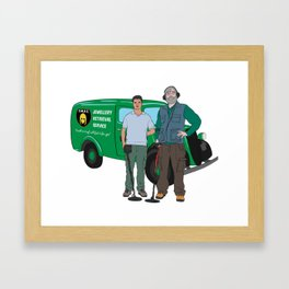 Russell & Hugh Jewellery Retrieval Service - DMDC - Detectorists Framed Art Print