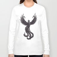 phoenix Long Sleeve T-shirts featuring Phoenix by Texnotropio