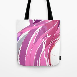 Purple Waves Tote Bag