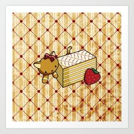 Mille Feuille Kitty Art Print