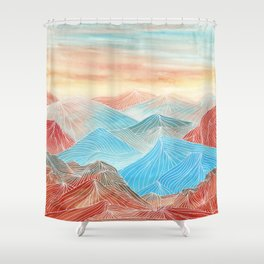 Lines in the mountains XX Shower Curtain