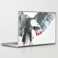 eagle Laptop & iPad Skins featuring Eagle by Susana Miranda ilustración