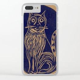 scared cat Clear iPhone Case