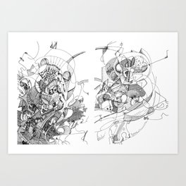 Man with Guitar Art Print
