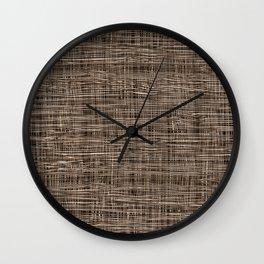 Burlap Lace Texture Wall Clock