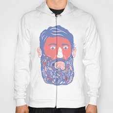 Flowers in Beard Hoody