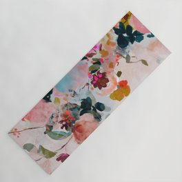floral bloom abstract painting Yoga Mat