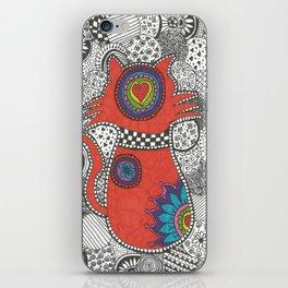 Kitty-tangle iPhone Skin