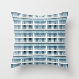 LA - Blue-grey balconies Throw Pillow