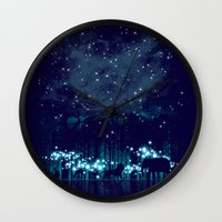 safari Wall Clocks featuring Cosmic Safari by dan elijah g. fajardo