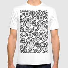SteamPunk MEDIUM White Mens Fitted Tee