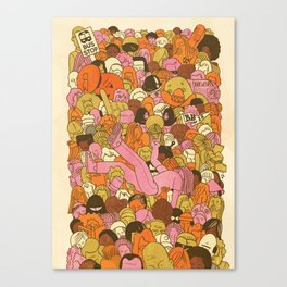 Crowd Surfer Canvas Print