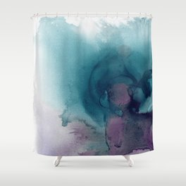 Teal Ultra Violet Vortex Shower Curtain