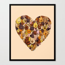 heart your titties Canvas Print