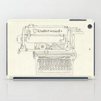 typewriter iPad Cases featuring Typewriter by Hedera
